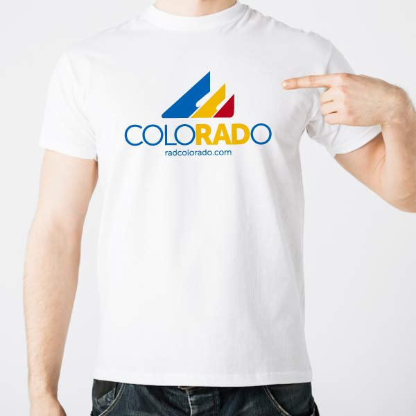 Mens White RadColorado T-Shirt