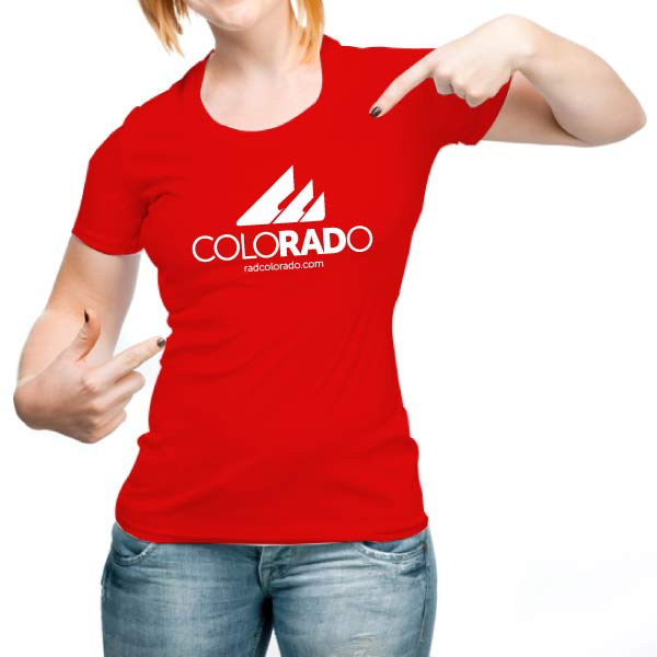 Womens Red RadColorado T-Shirt